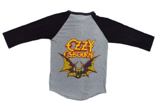 Vintage 80s Ozzy Osbourne Beaheaded Raglan Jersey