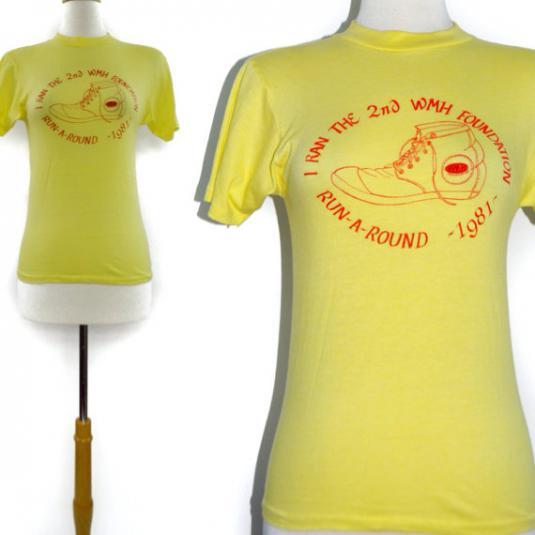 Vintage 80s 2nd WMH Foundation Run-A-Round 1981 T Shirt