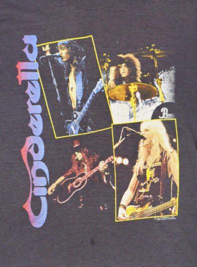 Vintage 80s Cinderella Long Cold Winter Tour 1988-89 T Shirt