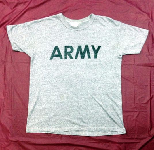 Vintage 80s Army Issued Military Heather Gray Champion 50/50