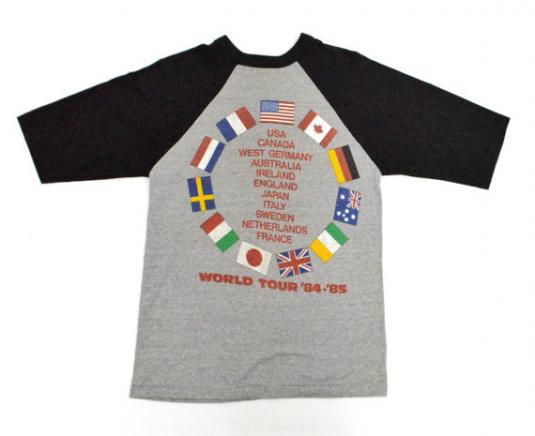 Vintage 80s Bruce Springsteen World Tour Jersey T Shirt
