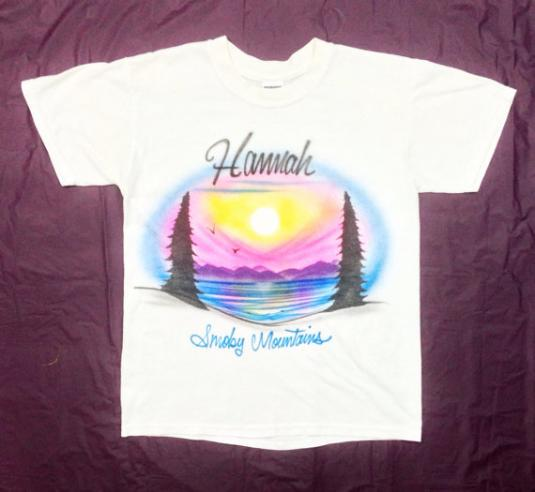 Vintage 80s Hannah Smoky Mountain Airbrushed T Shirt