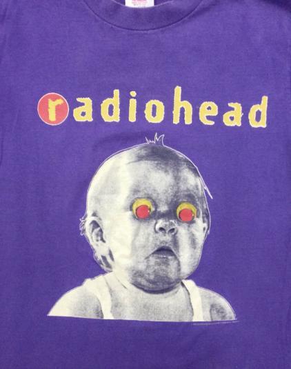 Vintage 90s RADIOHEAD Pablo Honey Tour T Shirt Sz L