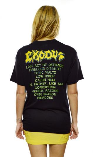 Vintage 80s Exodus Fabulous Disaster 50/50 T Shirt Sz L