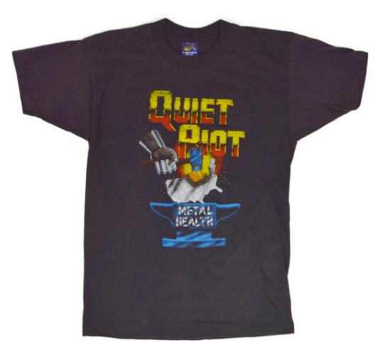 Vintage 80s Quiet Riot Metal Health T Shirt Sz L
