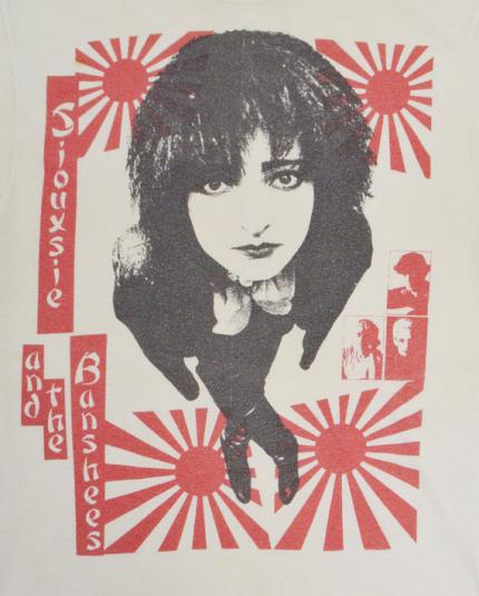 Vintage 80s Siouxsie Banshees Hong Kong Garden T Shirt M