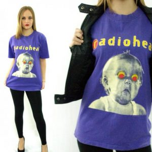 Vintage 90s RADIOHEAD Pablo Honey Tour T Shirt Sz L