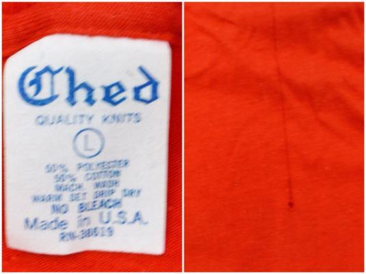 Vintage 80s Ship Ahoy Buy or Die 50/50 T Shirt Sz L