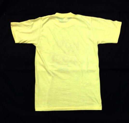 Vintage 80s Wendy's Hot N' Juicy Yellow Indie 50/50 T Shirt
