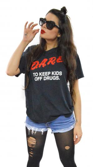 Vintage 80s D.A.R.E. To Keep Kids Off Drugs T Shirt Sz L