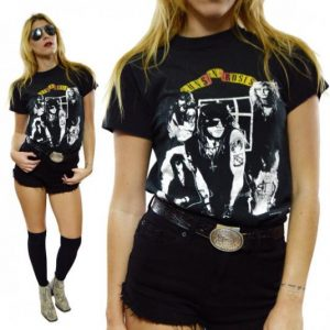 Vintage 80s Guns N' Roses Appetite For Destruction Group Pho