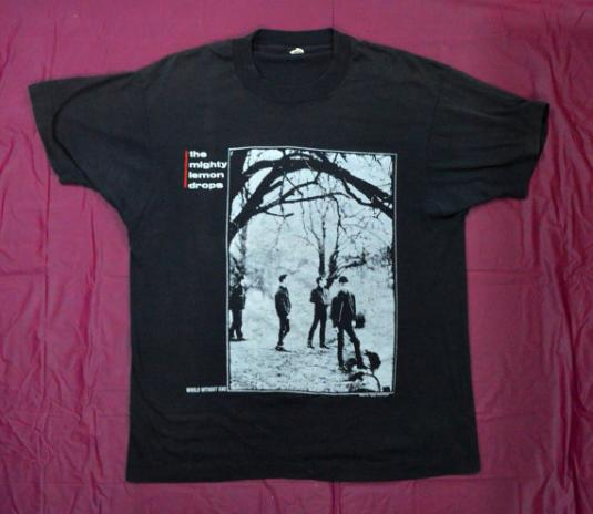 Vintage 80s The MIGHTY LEMON DROPS World Without T Shirt