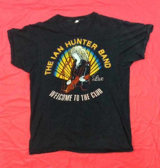 Vintage 80s IAN HUNTER BAND Mick Ronson T Shirt | Defunkd