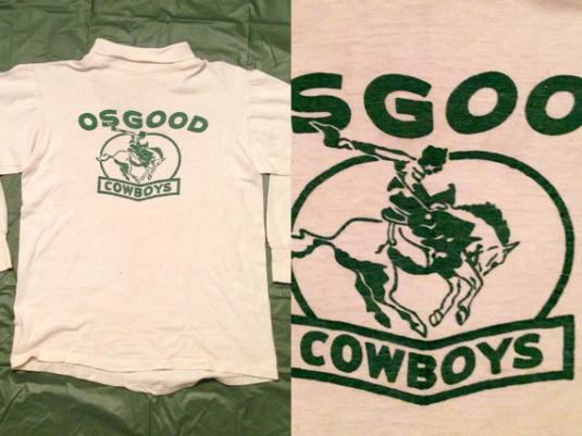 Vintage 80s Osgood Cowboys Distressed Turtleneck Jersey