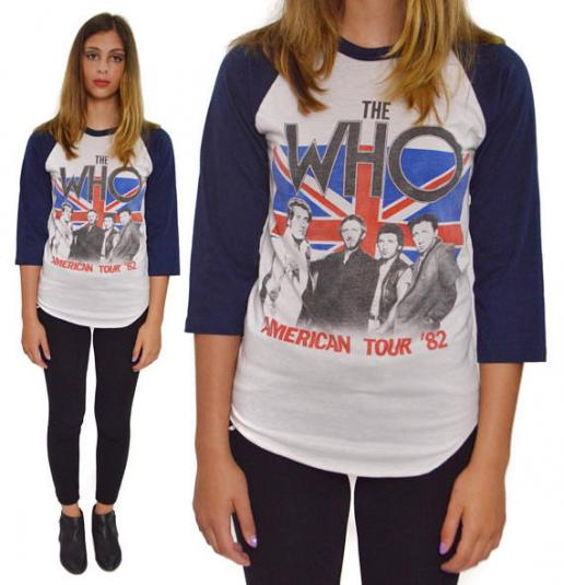 Vintage 80s The Who American Tour '82 Concert T Shirt