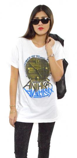 Vintage 90s Anthrax Iron Maiden World Tour T Shirt Sz L