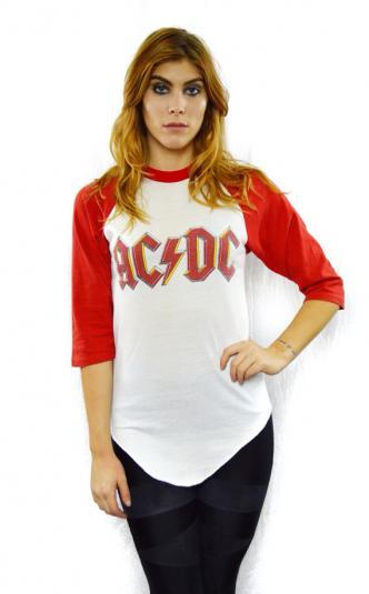 Vintage 70s AC/DC Highway To Hell Tour Raglan Jersey T Shirt