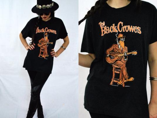 Vintage 90s BLACK CROWES Blues Is Blood Tour Black T Shirt