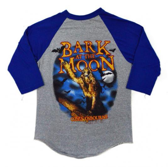 Vintage 80s Ozzy Osbourne Bark At The Moon Raglan Jersey