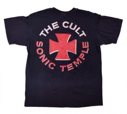 Vintage 80s The Cult Sonic Temple T Shirt Sz L