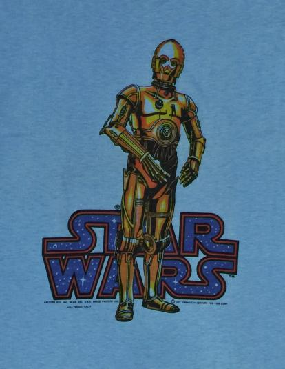 Vintage 80s Star Wars C3PO Ched T Shirt Sz S
