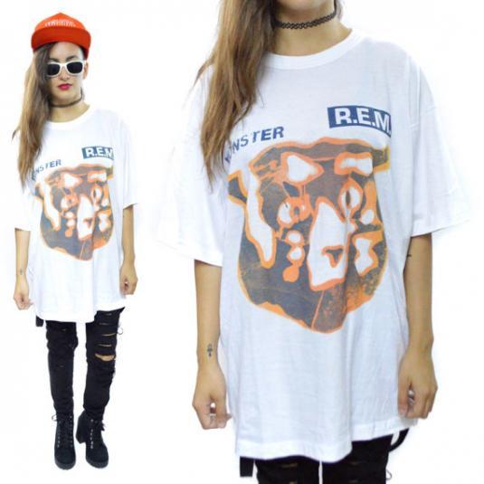 Vintage 90s R.E.M. Monster Tour 95 T Shirt Sz L