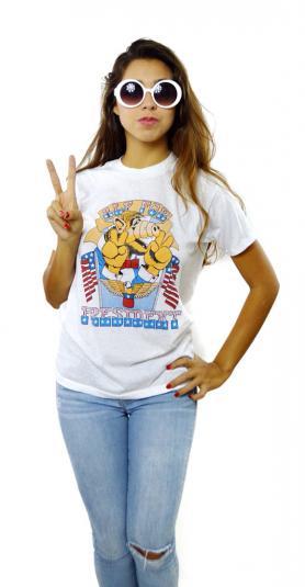 Vintage 80 Alf For President Funny 50/50 T Shirt Sz L