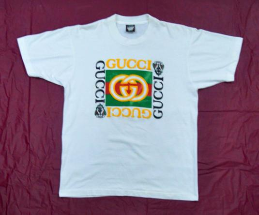 Vintage 90s Bootleg GUCCI Screen Stars Hip Hop Rap T Shirt