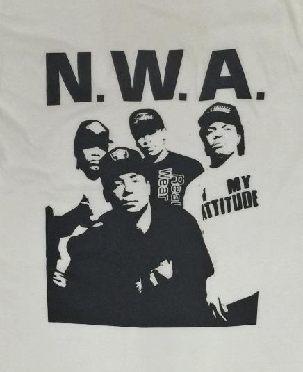 Vintage 80s N.W.A. Screen Stars T Shirt Sz L