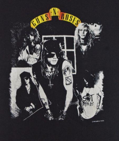 Vintage 80s Guns N' Roses Appetite for Destruction T Shirt L