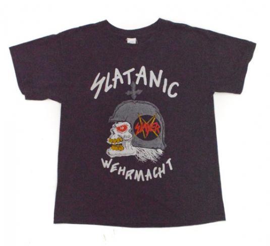 Vintage 80s Slayer Slatanic Wehrmacht World Tour Rare Metal