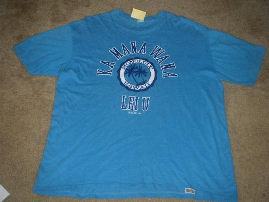 1979 Hawaiian tee shirt