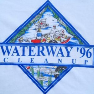 Vintage 1996 White Waterway Clean Up South FL Nature T Shirt XL