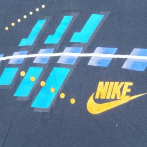 Vintage 1980s Nike Dark Navy Cotton Graphic T-Shirt L