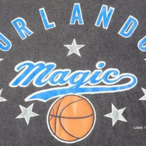 Vintage 1980s Orlando Magic NBA Black T Shirt by Logo 7 L