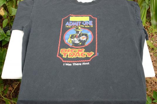 Vintage 1991 Dick Tracy Premiere Black T-Shirt XL