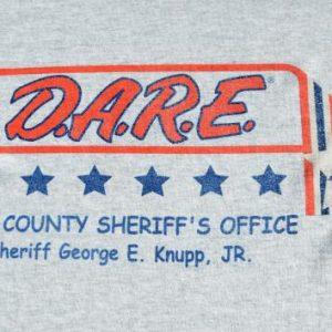 Vintage 1990s DARE Lake County FL Heather Gray T Shirt XL