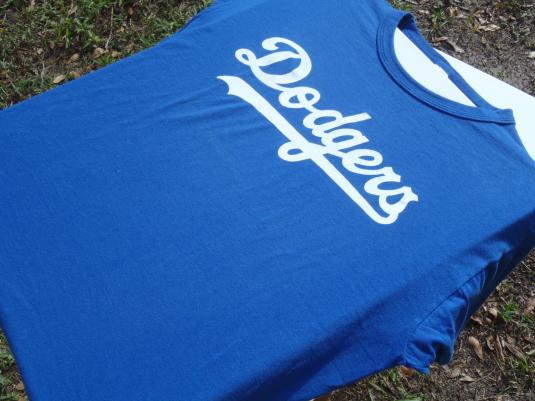 Vintage 1980s OREMC Dodgers Baseball Navy Blue T Shirt