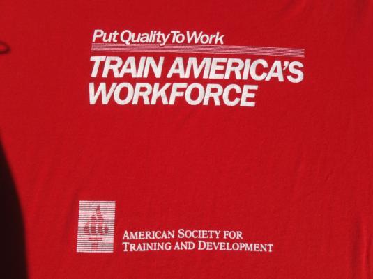 Vintage 1980s Train America's Workforce T-Shirt XL