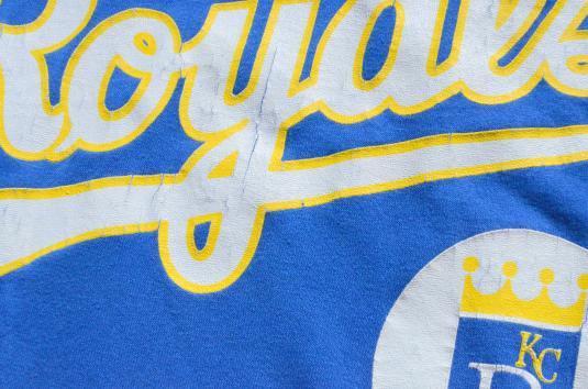 Vintage 1980s Kansas City Royals Blue T-Shirt L