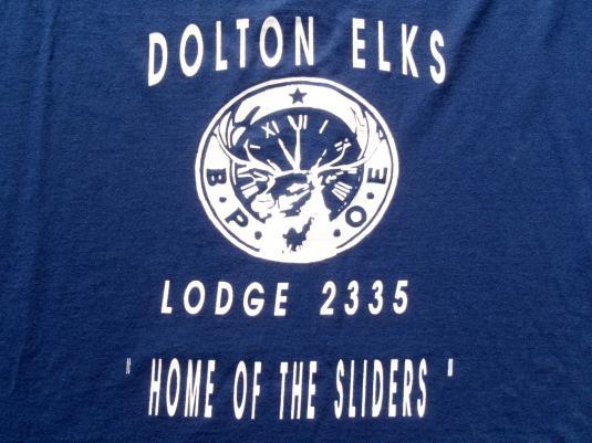 Vintage 1990s Dolton IL Elks Lodge Navy Blue T-Shirt XL