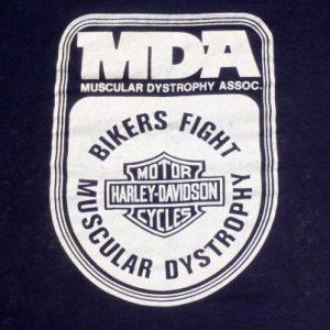 Vintage 1980s Harley Davidson Motorcycles MDA Black T-Shirt M