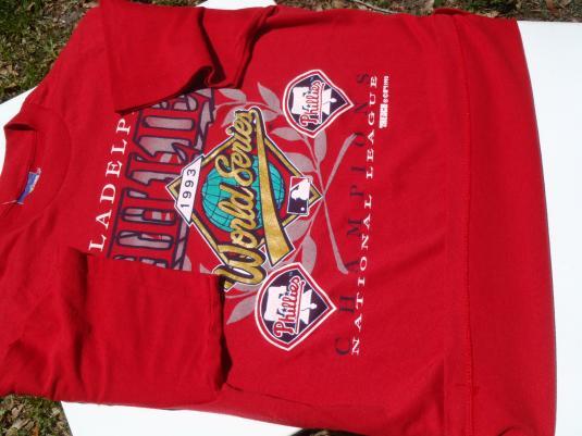 Vintage 1993 Philadelphia Phillies NL Champs MLB T-Shirt L