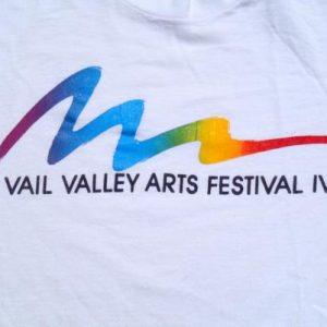 Vintage 1980s Vail Valley Arts Festival White T-Shirt L