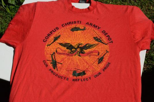 Vintage 1980s Corpus Christi Army Depot Red T-Shirt L/XL
