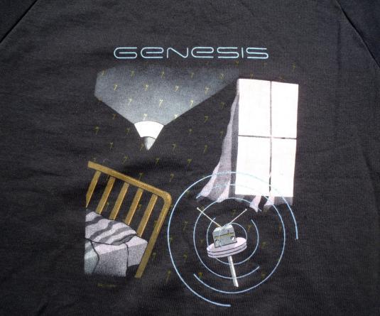 Vintage 1987 Black Genesis Invisible Touch Tour Sweatshirt L