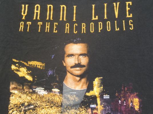 Vintage 1995 Yanni Live at the Acropolis Black T-Shirt XL