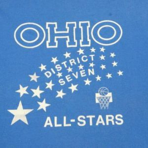 Vintage 1980s Ohio Basketball All Stars Blue T-Shirt XL