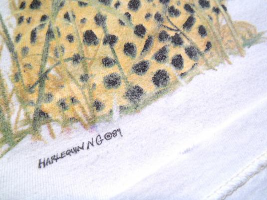 Vintage 1980s San Diego Zoo Lions Tigers White Cotton T-Shirt XL