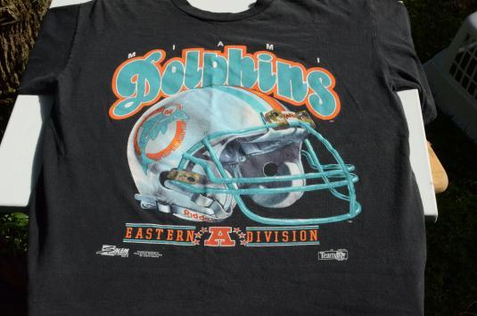 Vintage 1991 Miami Dolphins Black T-Shirt L